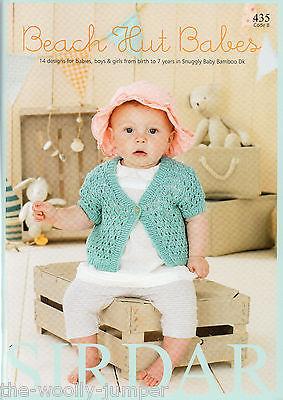 435 Sirdar Snuggly Baby Bamboo Dk Beach Hut Babes Knitting Pattern